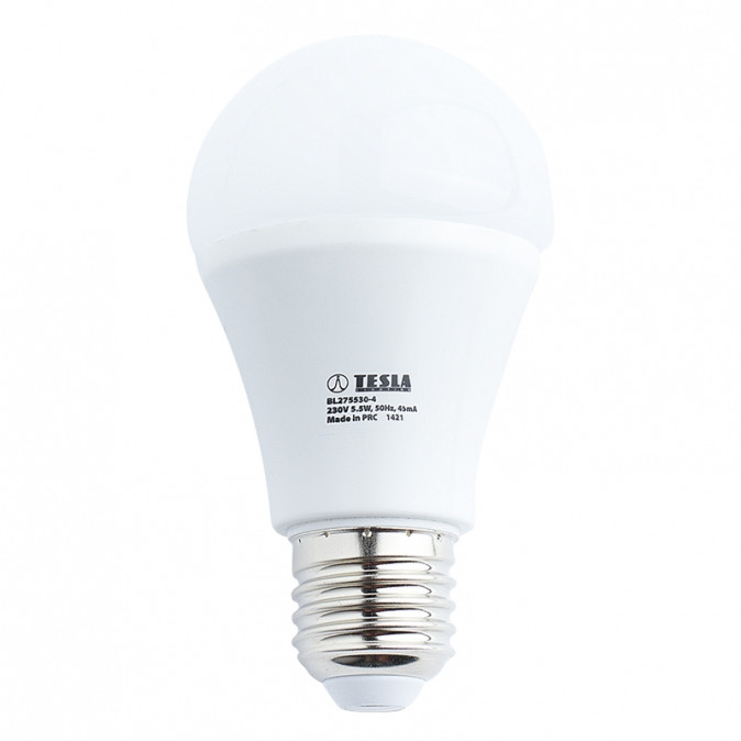 TESLA LED BULB 5,5W 3000K Eco Label E27 - LED žárovka