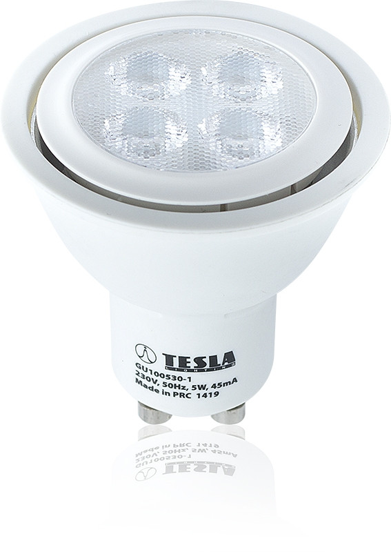 Tesla - GU100530-1 LED Bulb GU10, 5W, 3000K, Eco label