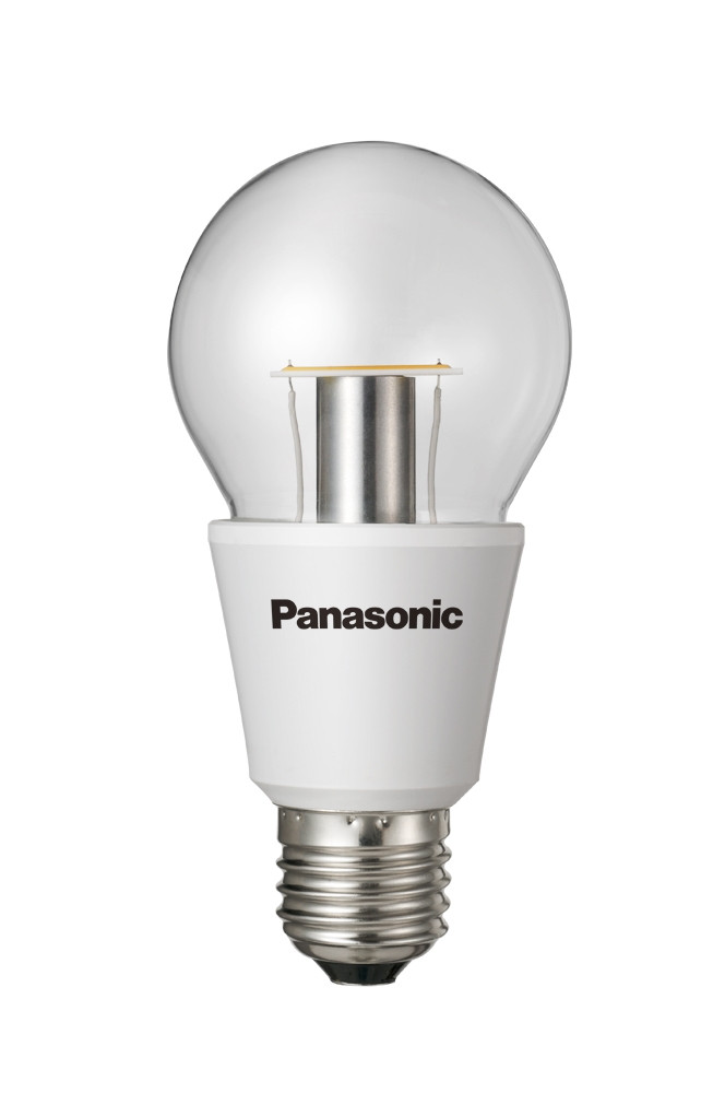 PANASONIC LED Nostalgic Clear 6,4W 2700K Xtra Wide E27 - LED žárovka