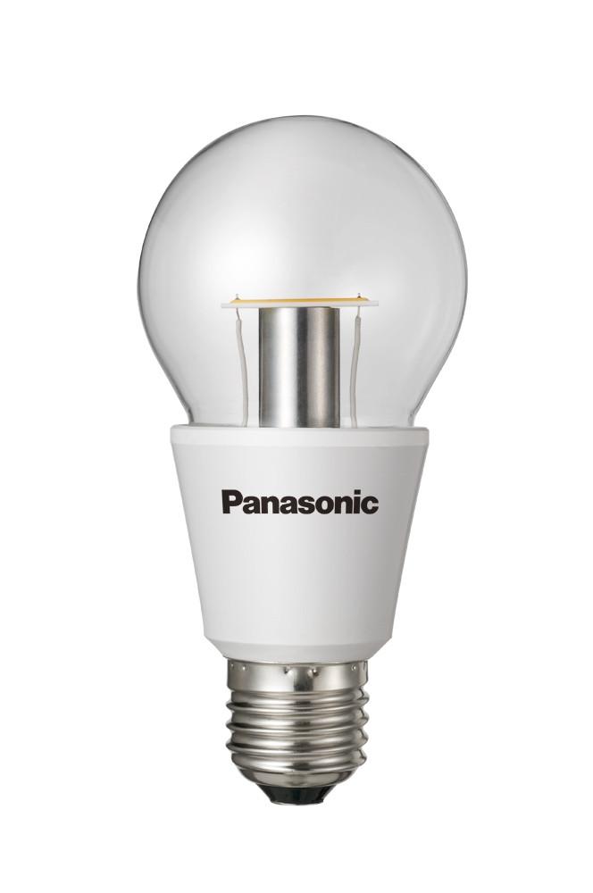 PANASONIC LED Nostalgic Clear 7,3W 2700K Xtra Wide DIM E27 - LED žárovka stmívatelná