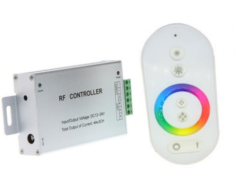 Ovladač RGB-12/24VDC-3x4A-RF-Touch-W