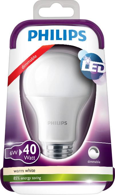 Philips LEDbulb 6-40W E27 WW A60 FR D