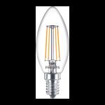 Philips Filament Classic LEDcandle ND 4.3-40W E14 827 B35 CL