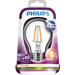 Philips LEDbulb Filament 4.3-40W E27 WW A60 CL